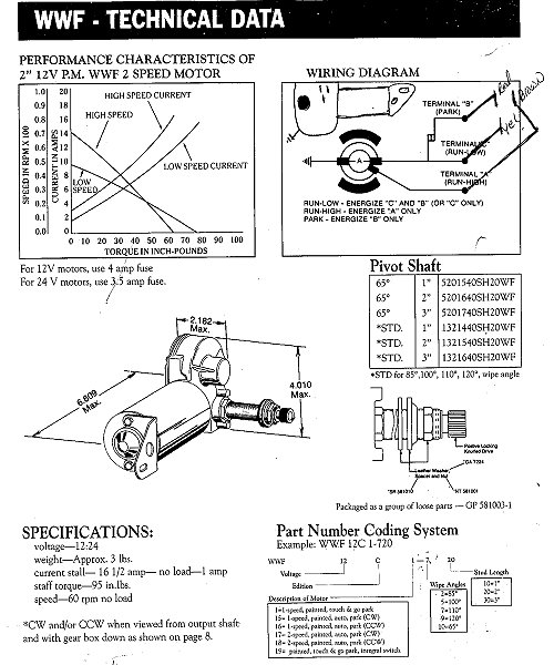 sprague wiper motor wiring diagram